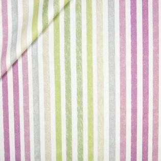 Dekostoff - Blockstreifen - grün-pink