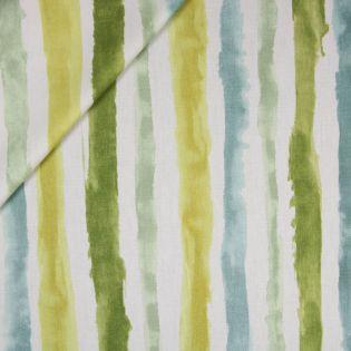 Dekostoff - Aquarell-Streifen - gelb-grün