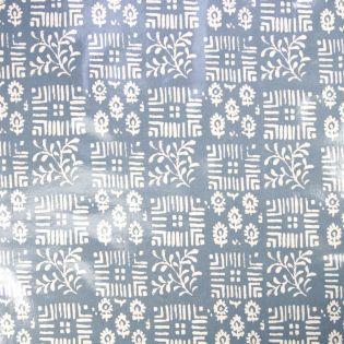 Baumwolle - beschichtet - PVC - Blumenkacheln