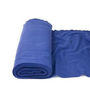 Baumwollfleece - uni - blau
