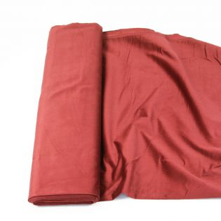 Babycord - querelastisch - uni - silk-finish - rot