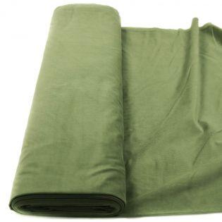 Babycord - querelastisch - uni - millwashed - grün