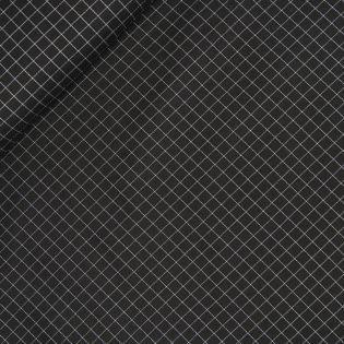 Baumwolle - Kettköper - Karo - schwarz