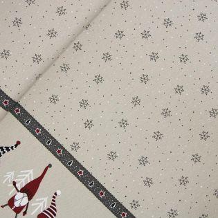 Dekostoff - Weihnachten - Bordüre - Weihnachtswichtel