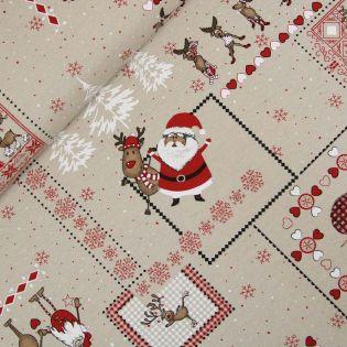 Dekostoff - Weihnachten - Elchenparade