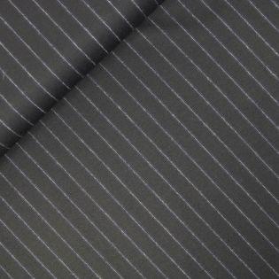 Wollstoff - Nadelstreifen - schwarz