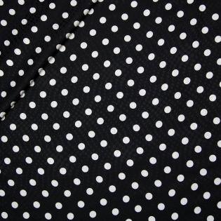 Jacquard-Seide - weiße Punkte