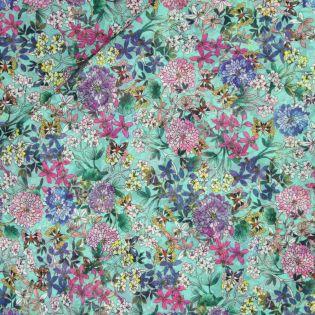 Baumwollvoile - Gartenblumen