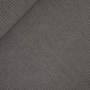 Reines Leinen - Nadelstreifen - grau