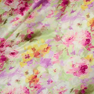 Satin - Inkjet - Aquarell-Blumen