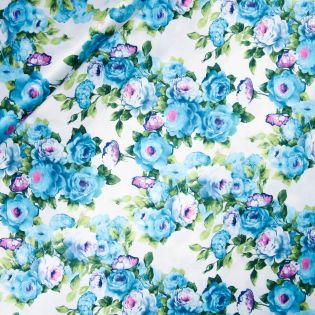 Satin - Inkjet - Blaue Rosen
