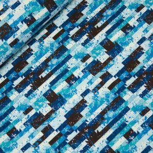 Softshell - Graffiti-Blöcke - blau