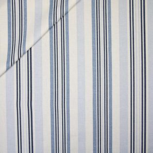Dekostoff - Half Panama - Streifen - blau