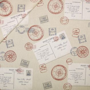 Dekostoff - Half Panama - Postkarten
