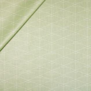 Baumwolle - beschichtet - Rauten - grün