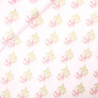 Baumwolle - Camelot Fabrics - Star Wars Watercolors - Golden Script - Metallic