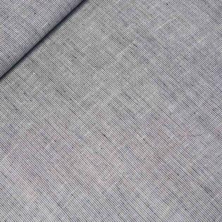 Leinen-Viskose - Streifen-Optik - schwarz
