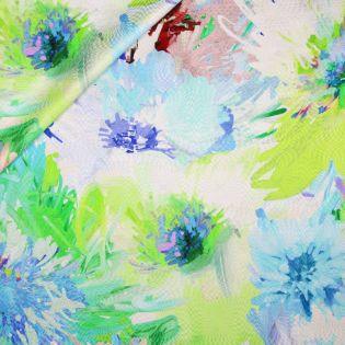 Seide - Blumen-Aquarell - weiss