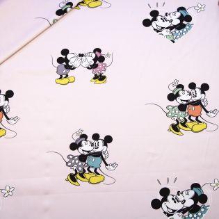 Dekostoff - Half Panama - Minnie and Mickey - rose