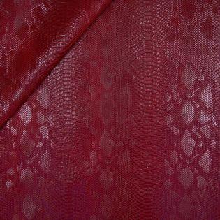 Lederimitat - Schlangenoptik - rot