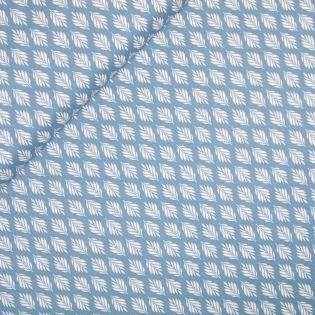 Baumwolle - Gütermann - Cosy Mood - Kleine Blätter - blau