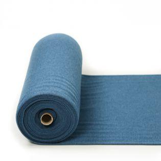 Bündchen - Premium - uni - melange jeansblau