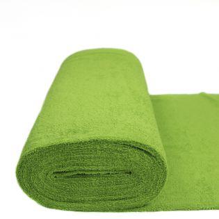 Frottee - uni - apfelgrün