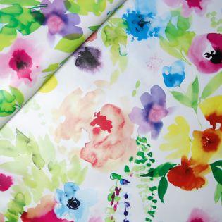 Wachstuch - Aquarell-Blumen