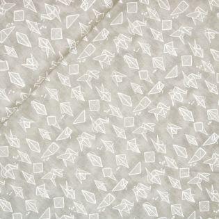Baumwolle - Origami - sand