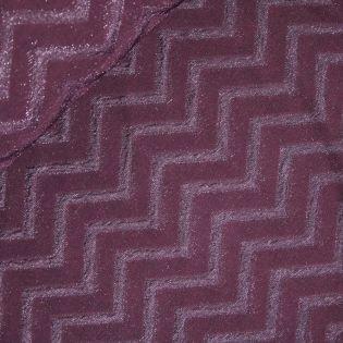 Lurex-Jacquard - MyImage - Zigzag - bordeaux