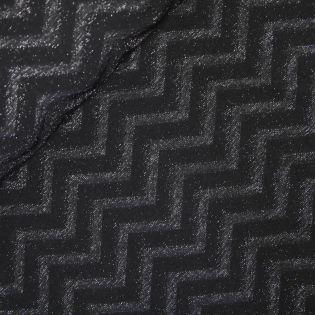 Lurex-Jacquard - MyImage - Zigzag - schwarz