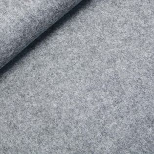 Woll-Flausch - uni - grau