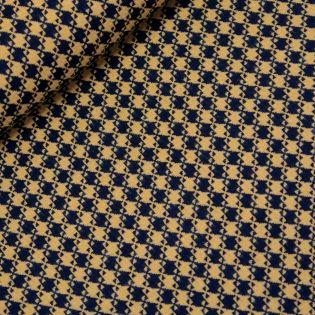 Wollstoff - Hahnentritt - schwarz-gelb