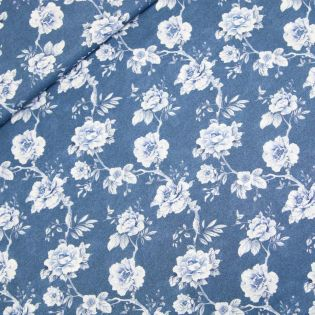 Baumwollvoile - Hapojolie - blau