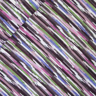 Baumwollvoile - Watercolor Stripes - lila
