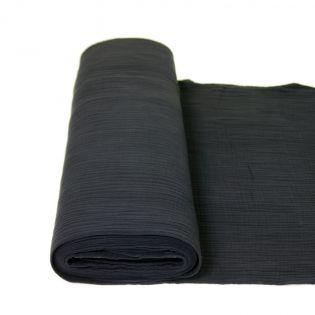 Baumwolle - Musselin - Triple Gauze - uni - schwarz