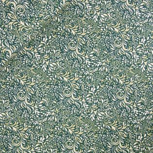 Baumwolle - Gütermann - Elegant Spirit - Blumenranken - grün