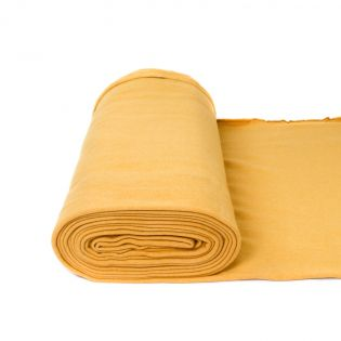 Bio-Baumwollfleece - uni - gelb