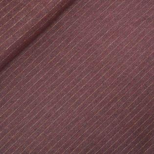 Flanell - Streifen - bordeaux