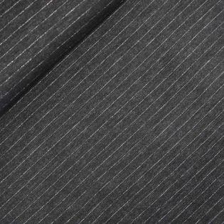 Flanell - Streifen - schwarz
