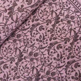 Schurwolle - Blumenranken - rose