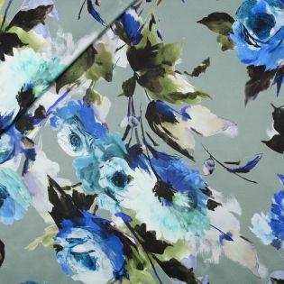 Seide - Aquarellblüten