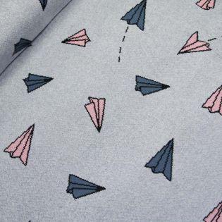 Flach-Strickjersey - Exklusiv - Papierflieger