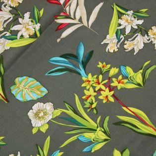 Leinen-Viskose - MissDoodle - Blumen