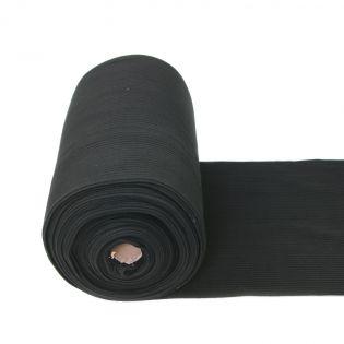 Beanie-Bündchen - uni - schwarz