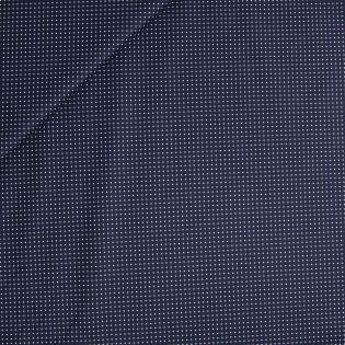 Baumwolle - beschichtet - Punkte - navy
