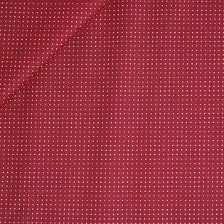 Baumwolle - beschichtet - Punkte - rot