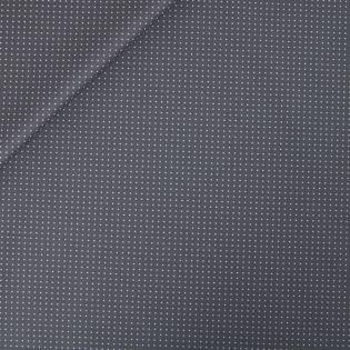 Baumwolle - beschichtet - Punkte - grau