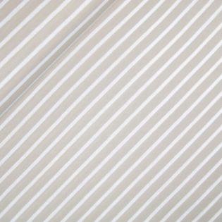 Interlockjersey - Streifen - beige-weiss