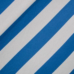 Viskosejersey - Streifen - blau-grau